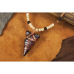 Pendant with obsidian arrowhead PA1702