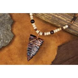 Parure à pointe en obsidienne PA1703