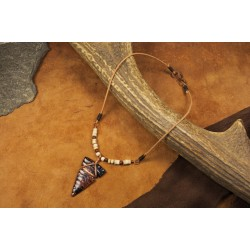 Pendant with obsidian arrowhead PA1704