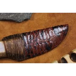 Couteau à lame en obsidienne C1706